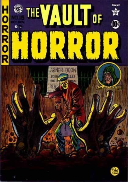 Vault of Horror 15 - Hands - Abner Doon - 10 Cents - Shovel - Dirt
