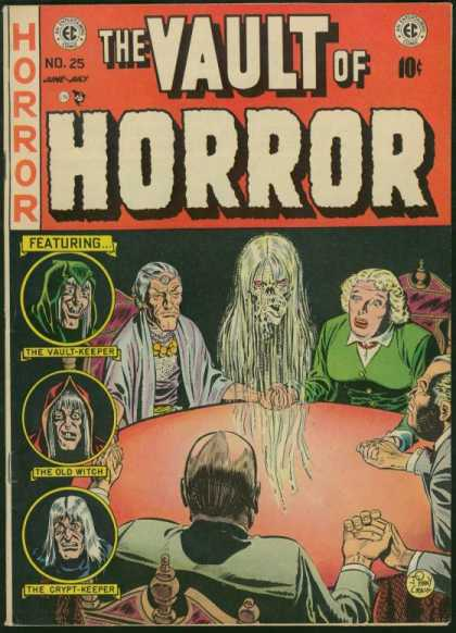 Vault of Horror 25 - Ec - The Vault Keeper - The Old Witch - The Crypt-keeper - June