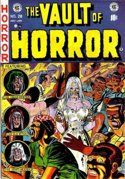 Vault of Horror 28 - Horror - Lady Ghost - The Old Witch - Vault Keeper - Cyrpt Keeper