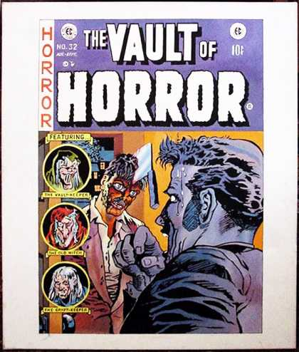 Vault of Horror 32 - Cleaver - Frightened Man - Vaultkeeper - Undead Man - Old Witch
