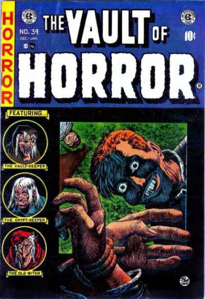 Vault of Horror 34 - The Vault Keeper - The Crypt Keeper - The Old Witch - Hands - Smile