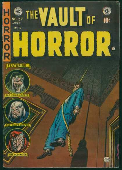 Vault of Horror 37 - The Vault Keeper - The Crypt Keeper - The Old Witch - Man Hanging - Blue Suit
