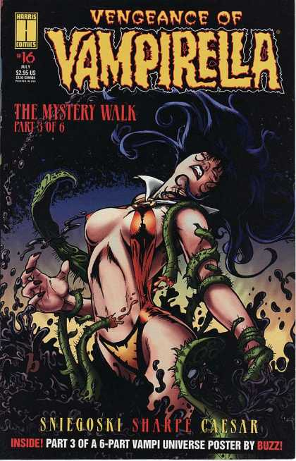 Vengeance of Vampirella 16 - The Mystery Walk - Part 3 Of 6 - Vampi Universe Poster By Buzz - Inside Part 3 Of A 6 Part - Sniegoski Sharpe Caesar