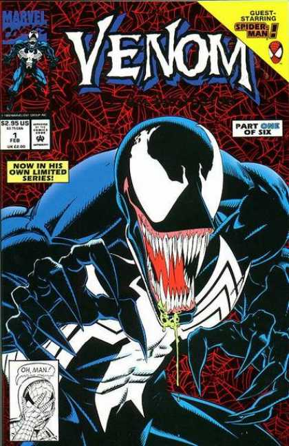 Venom: Lethal Protector 1 - Venom - Spider Man - Fang Teeth - Dripping Venom - Marvel Comics - Mark Bagley