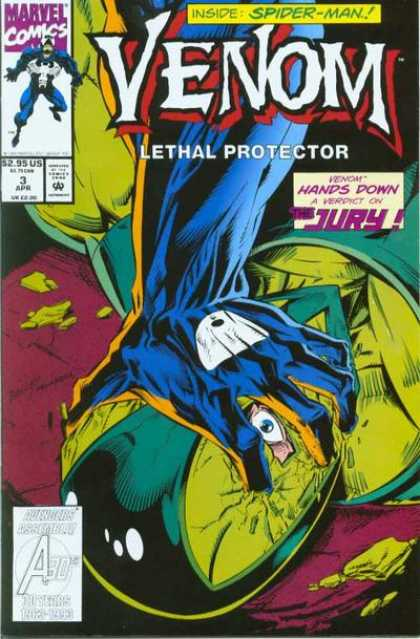Venom: Lethal Protector 3 - Venom - Crushing Helmet - 3 April - Jury - Verdict - Mark Bagley