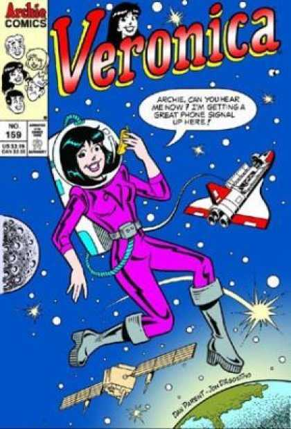 Veronica 159 - Archie Comics - Space Shuttle - Earth - Moon - Suit - Dan Parent, Jon D'Agostino