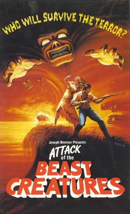 VHS Videos - Attack Of the Beast Creatures