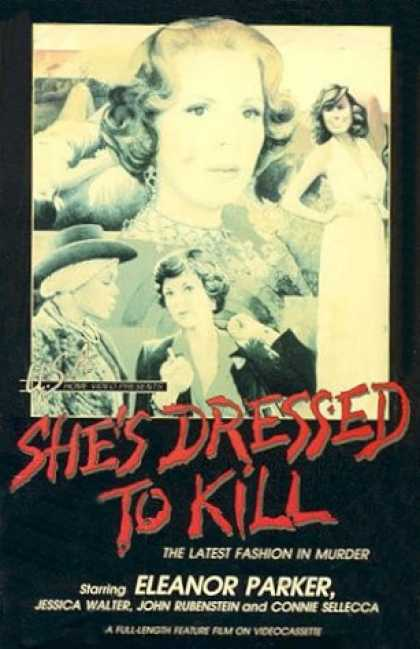 VHS Videos - She's Dressed To Kill