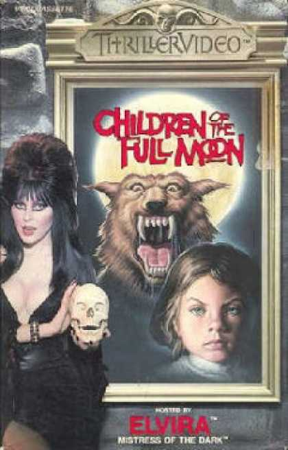 VHS Videos - Children Of the Full Moon Thriller Video