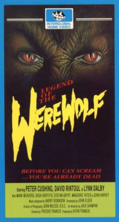VHS Videos - Legend Of the Werewolf