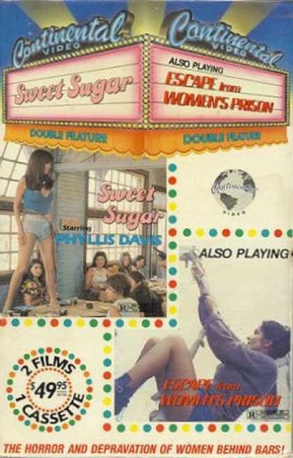 VHS Videos - Sweet Sugar-escape From Womens Prison