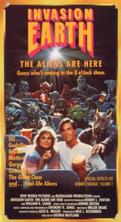 VHS Videos - Invasion Earth the Aliens Are Here