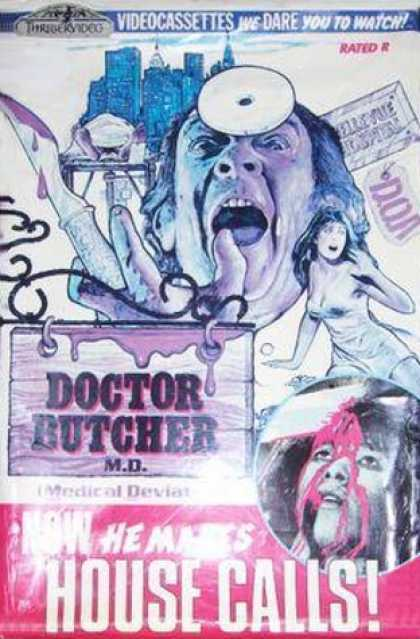 VHS Videos - Doctor Butcher M.d. Thrillervideo