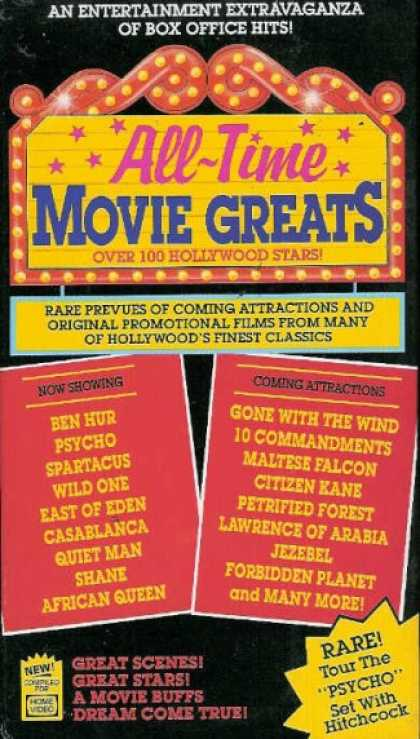 VHS Videos - All Time Movie Greats