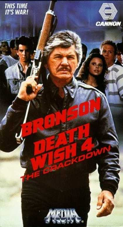 VHS Videos - Death Wish 4 the Crackdown