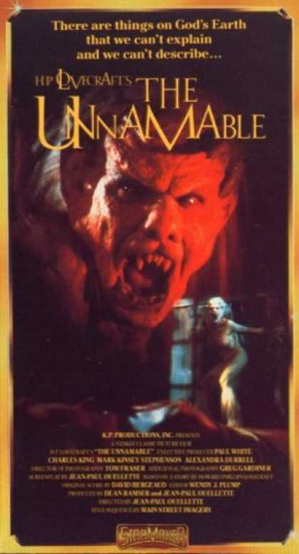 VHS Videos - Unnamable