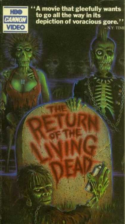 VHS Videos - Return Of the Living Dead Hbo Cannon