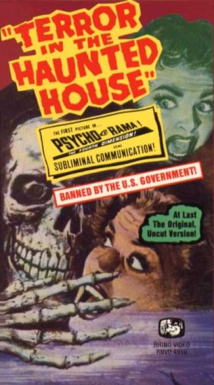 VHS Videos - Terror in the Haunted House
