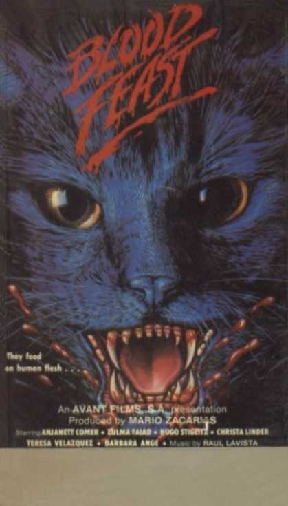 VHS Videos - Blood Feast Aka Night Of A Thousand Cats