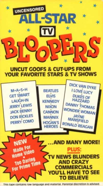 VHS Videos - All Star Tv Bloopers