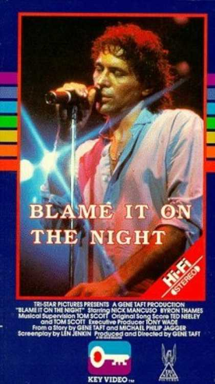 VHS Videos - Blame It On the Night