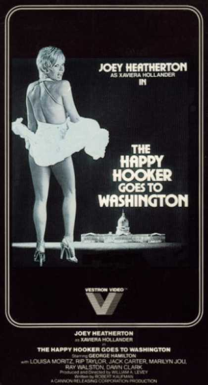 VHS Videos - Happy Hooker Goes To Washington
