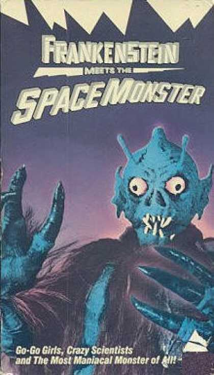 VHS Videos - Frankenstein Meets the Space Monster