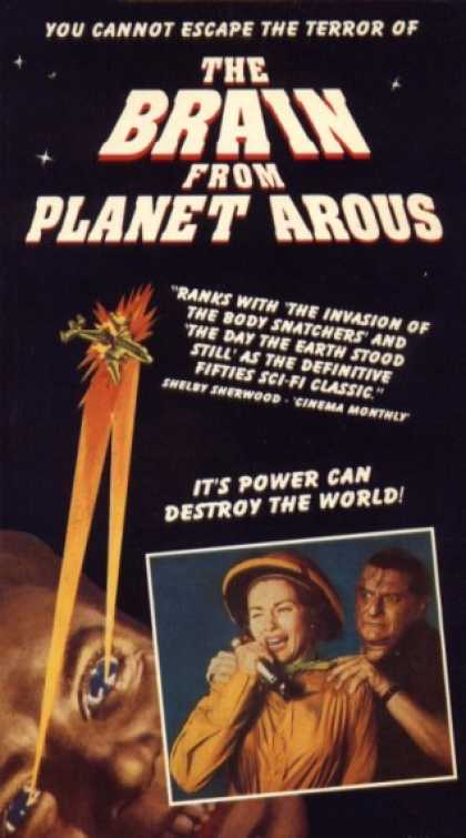 VHS Videos - Brain From Planet Arous