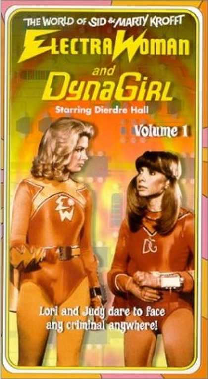 VHS Videos - Electra Woman and Dyna Girl