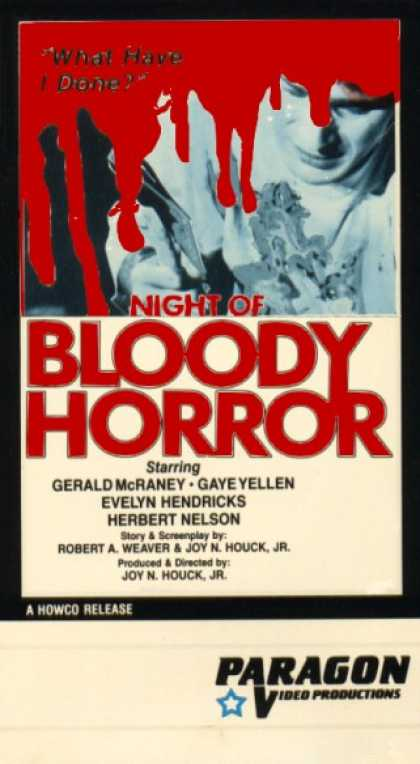 VHS Videos - Night Of Bloody Horror
