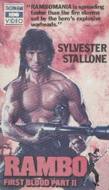 VHS Videos - Rambo First Blood Part Ii