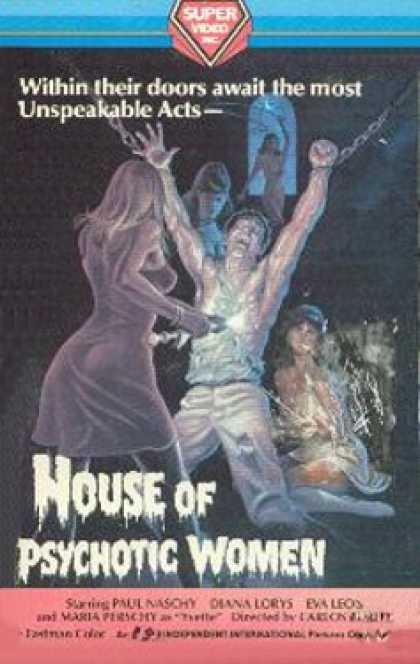 VHS Videos - House Of Psychotic Women
