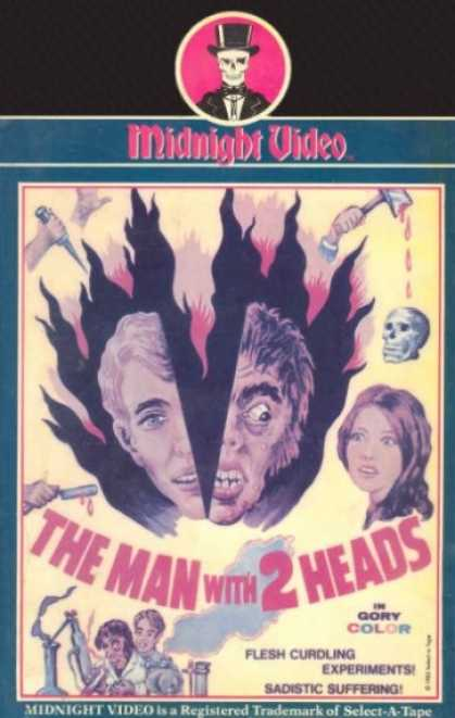 VHS Videos - Man With 2 Heads