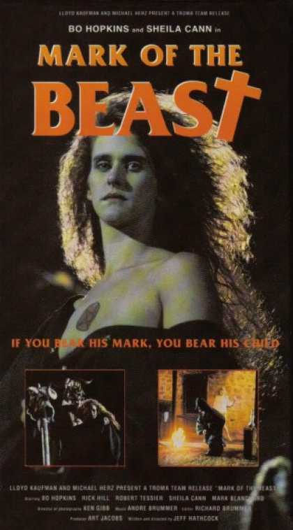 VHS Videos - Mark Of the Beast 1989