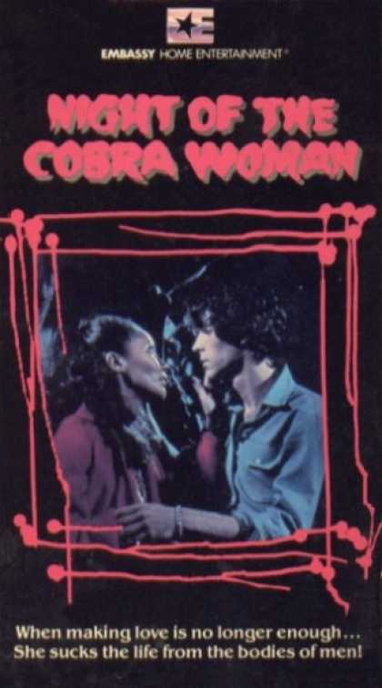 VHS Videos - Night Of the Cobra Woman