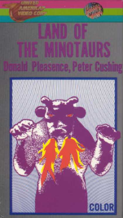 VHS Videos - Land Of the Minotaur United American