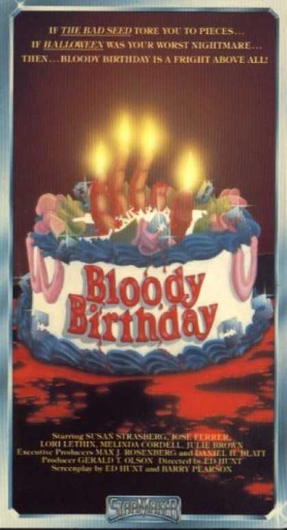 VHS Videos - Bloody Birthday