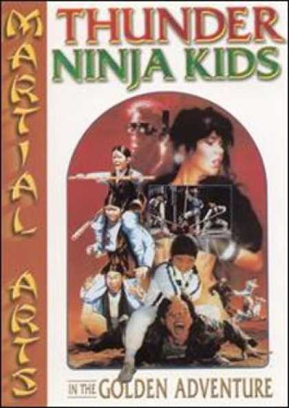 VHS Videos - Thunder Ninja Kids in the Golden Adventure Magnum Dvd Front