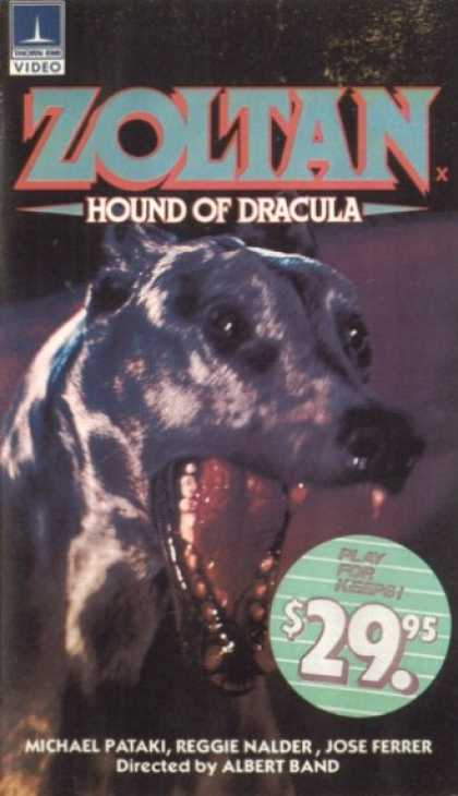 VHS Videos - Zoltan Hound Of Dracula Thorn