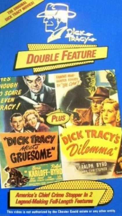 VHS Videos - Dick Tracy Double Feature