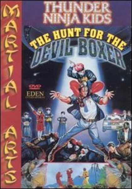 VHS Videos - Thunder Ninja Kids Hunt For the Devil Boxer Magnum Dvd Front
