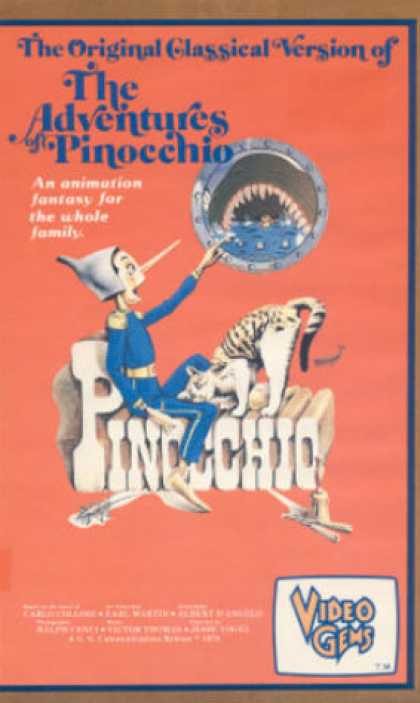 VHS Videos - Adventures Of Pinocchio