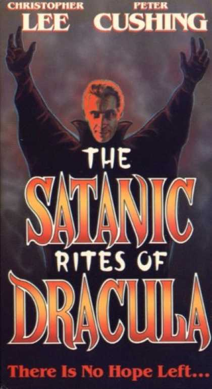 VHS Videos - Satanic Rites Of Dracula United American
