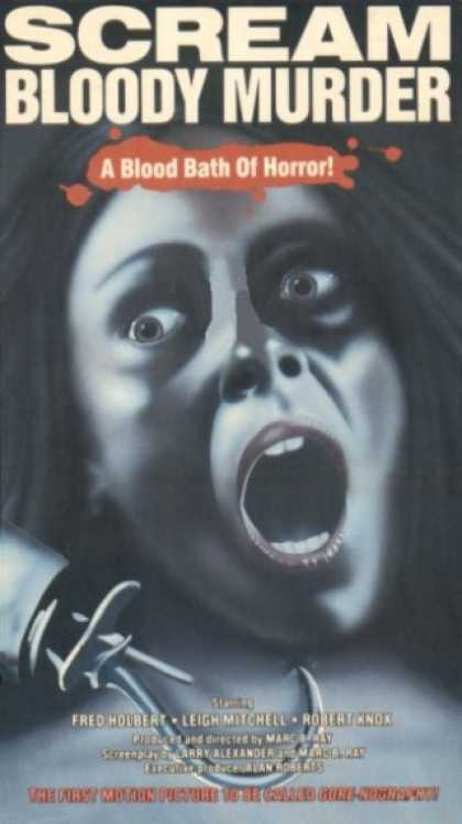 VHS Videos - Scream Bloody Murder 1972 United