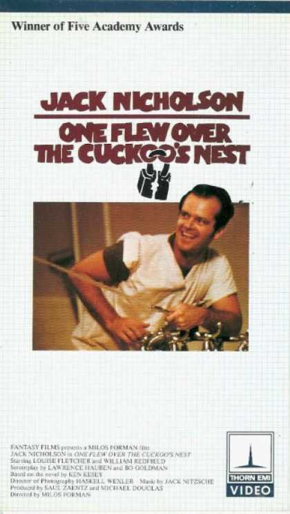 VHS Videos - One Flew Over the Cuckoo's Nest Thorn