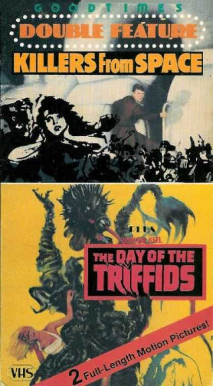 VHS Videos - Killers From Space-day Of the Triffids