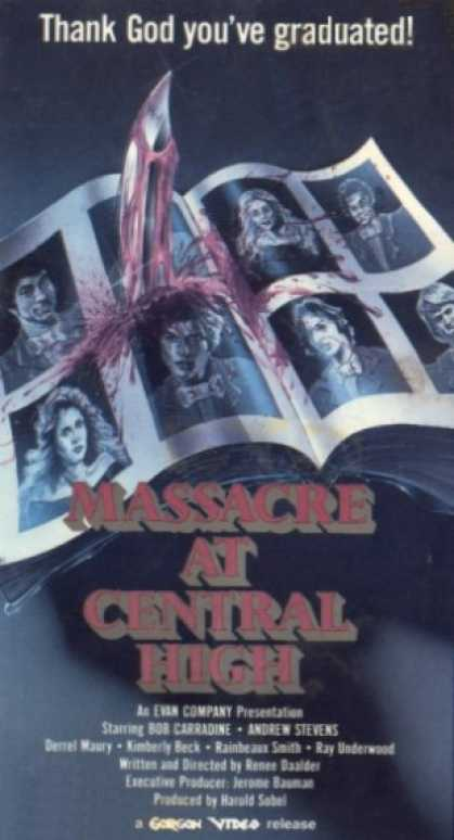 VHS Videos - Massacre At Central High