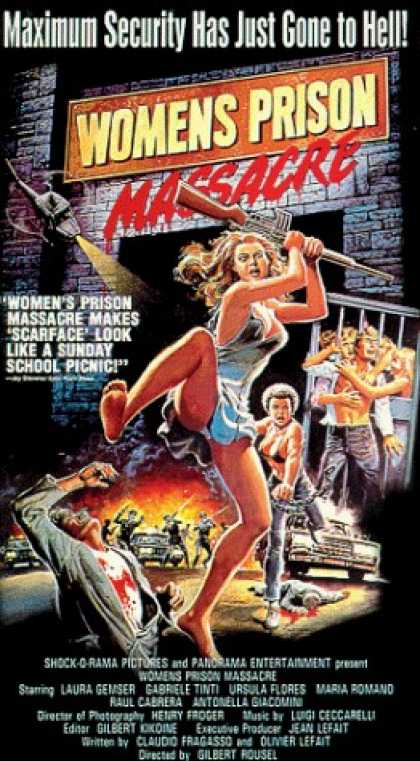 VHS Videos - Womens Prison Massacre