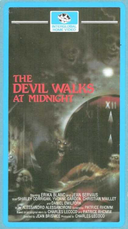 VHS Videos - Devil Walks At Midnight