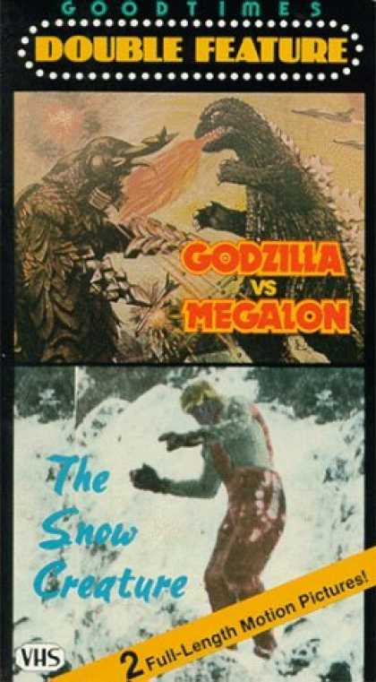 VHS Videos - Godzilla Vs Megalon-snow Creature